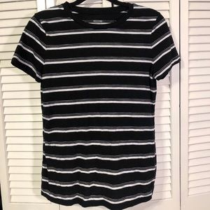 Mossimo Black and White Stripe Tee